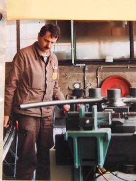 Bernhard Simon bei der Arbeit (ca. 1985)
