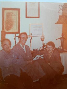 ca. 1976 - Generationenbild: Rudolf, Walter und Bernhard Simon