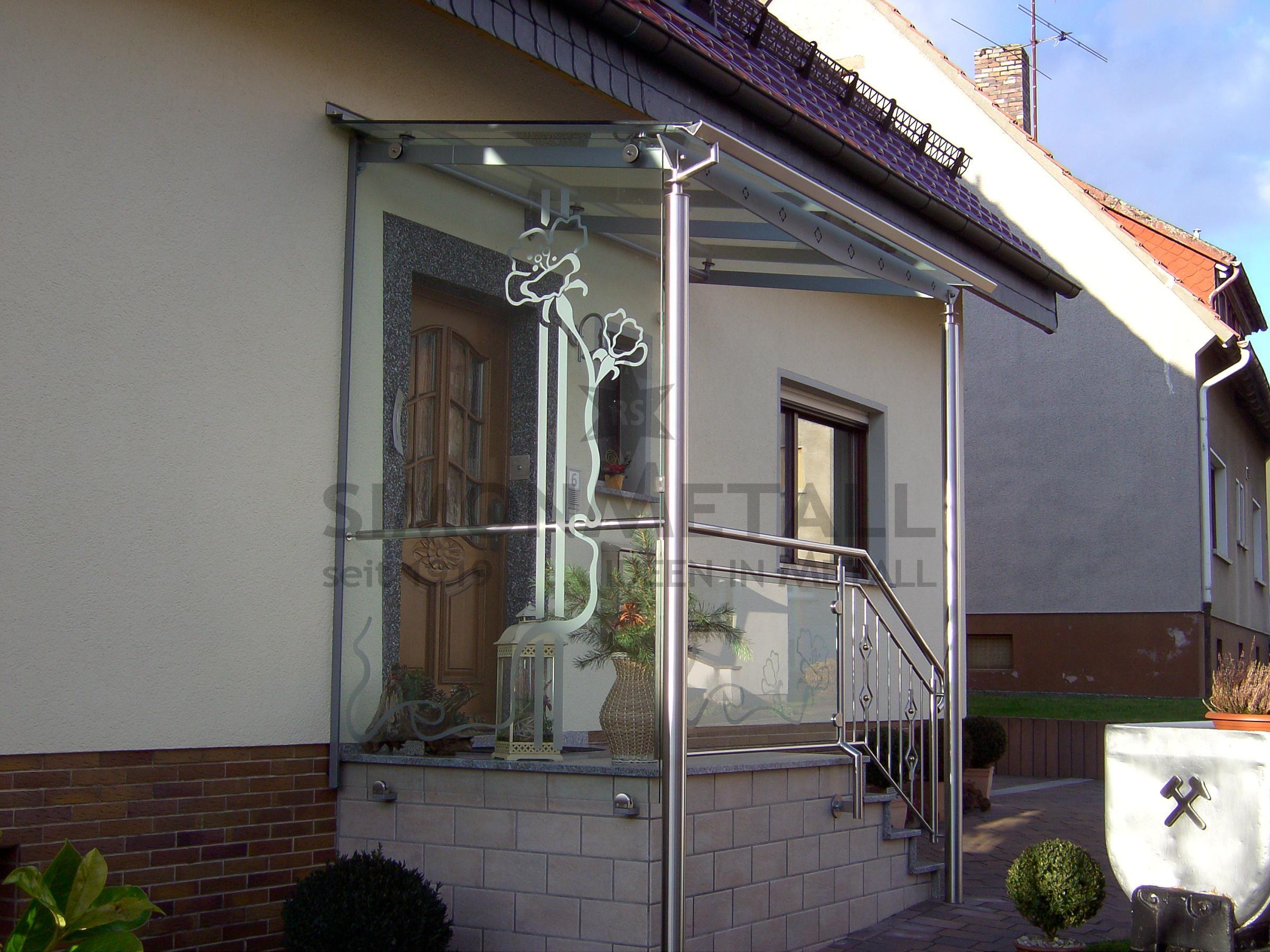 Attraktiv Hausvordächer Referenz Von Glasdach Modell Leipzig Ist Ein Günstiges Edelstahl-vordach