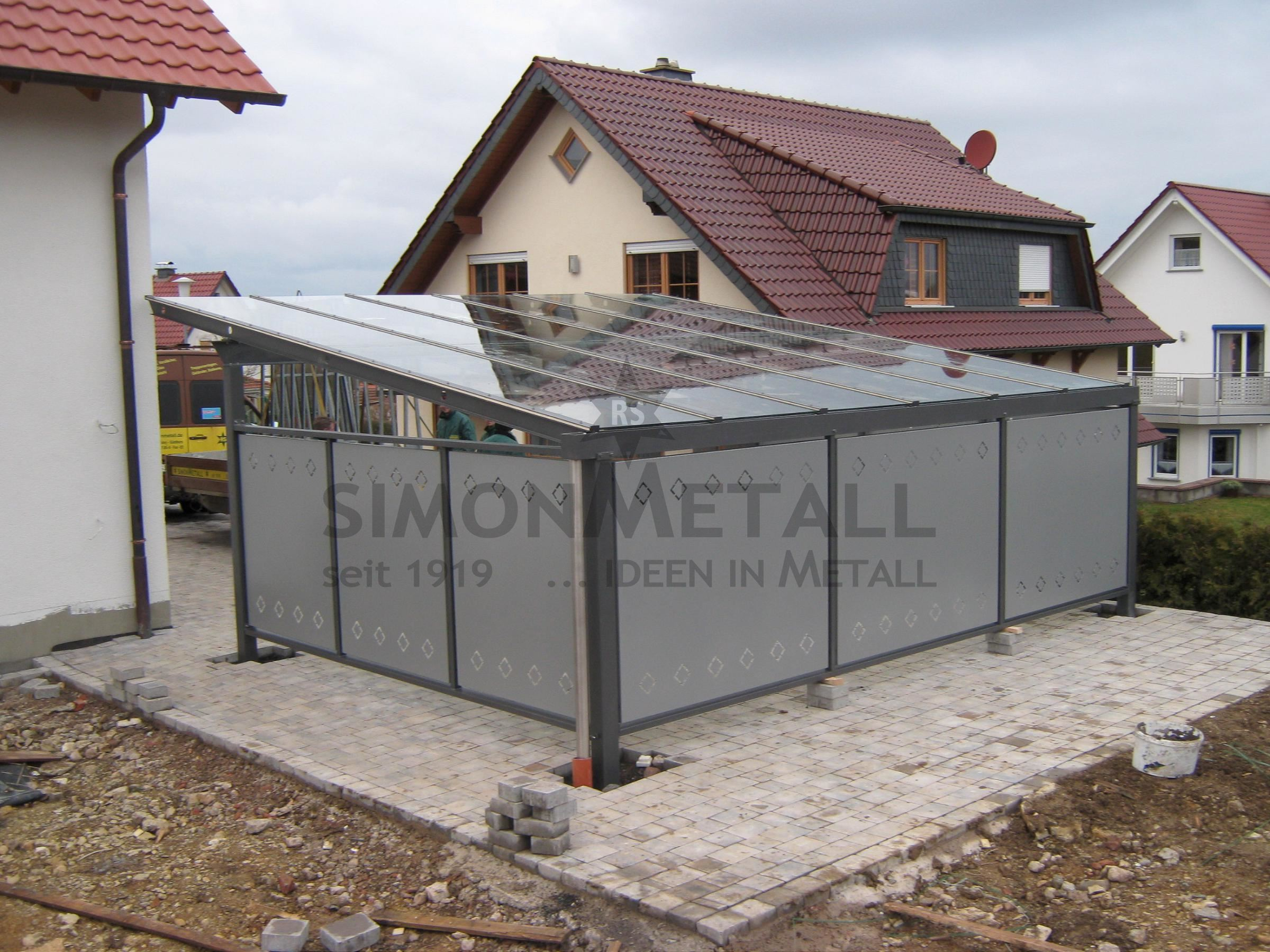 carports simonmetall gmbh co kg in tann rh n g nthers. Black Bedroom Furniture Sets. Home Design Ideas