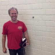 Befestigungsöse für das neue Badmintonnetz