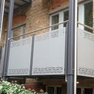 Die Balkons wurden von der Denkmalpflege genehmigt.