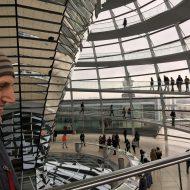 In der Reichstags-Kuppel